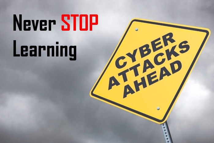 Never stop learning - the need for a risk-based approach to cyber-security