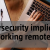 The cybersecurity implications of working remotely