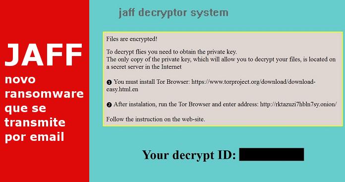 JAFF, um novo ransomware que se transmite por email