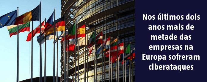 Nos últimos dois anos mais de metade das empresas na Europa sofreram ciberataques