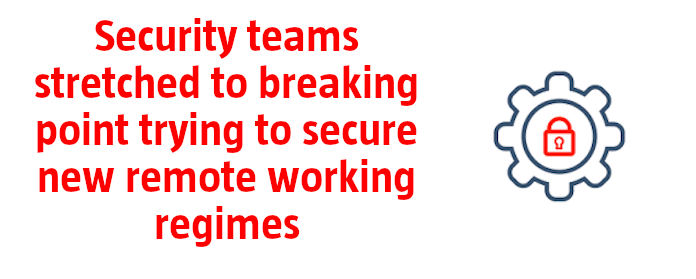 Security teams stretched to breaking point trying to secure new remote working regimes